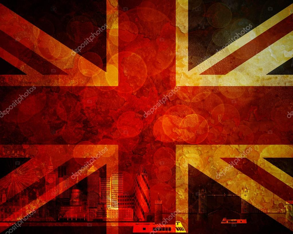 London Desktop Backgrounds London Skyline Uk Flag Grunge