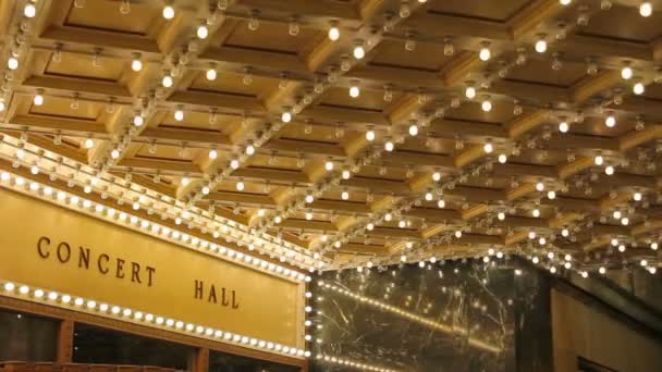 High Definition Movie Of Blinking Concert Hall Theater Ceiling