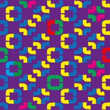 Decorative seamless background in style pop art. Print. Cloth design, wallpaper.