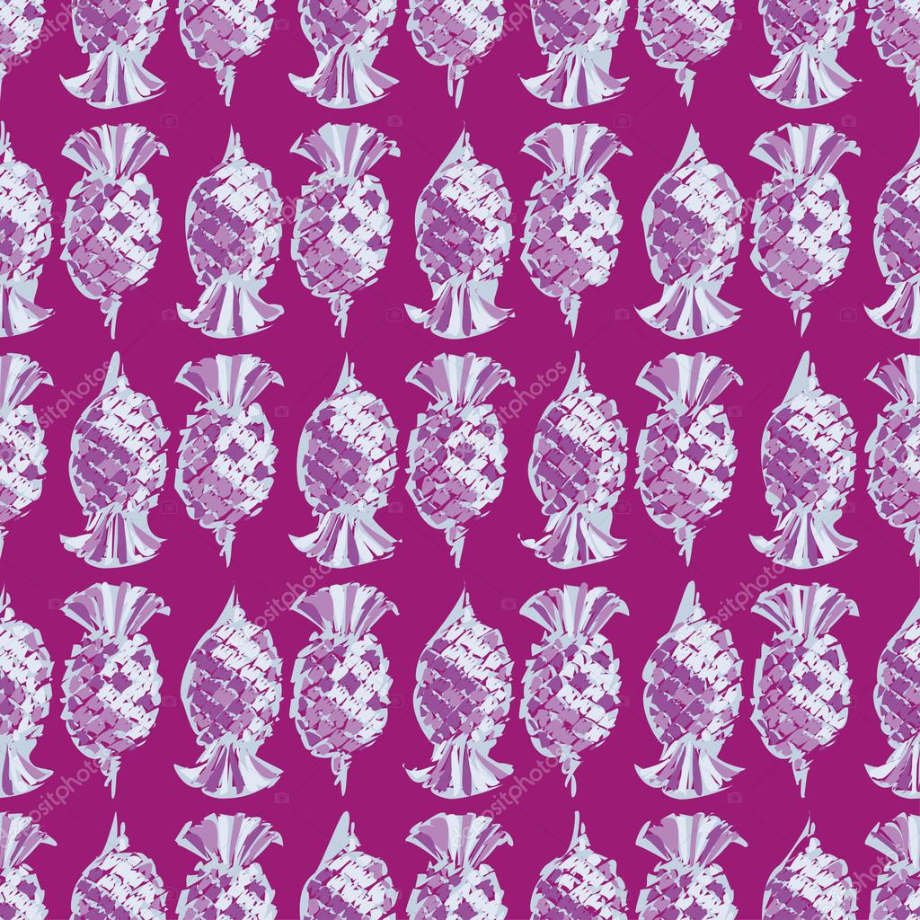Ethnic boho seamless pattern with pineapples. Print. Repeating background. Cloth design, wallpaper.