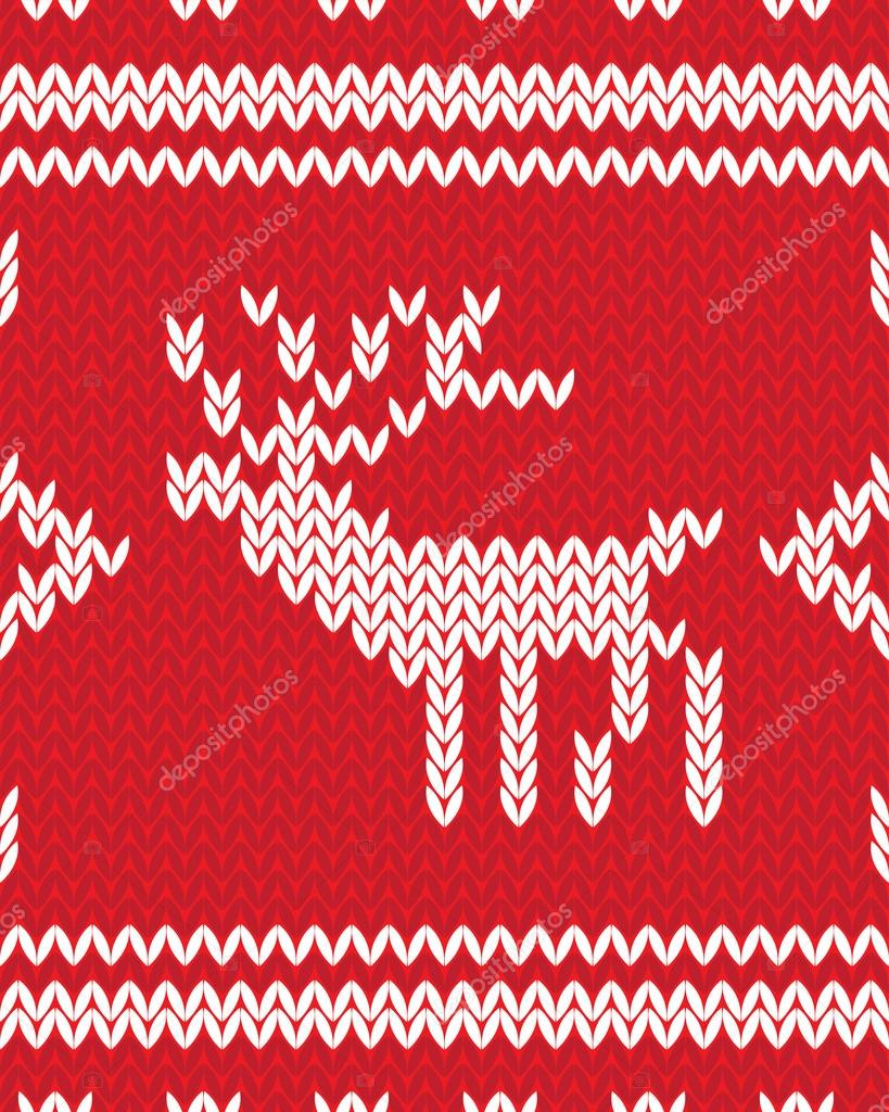 Decorative Christmas seamless knitted background