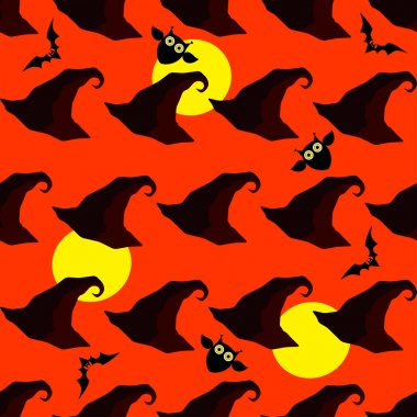 Seamless decorative vector background Happy Halloween