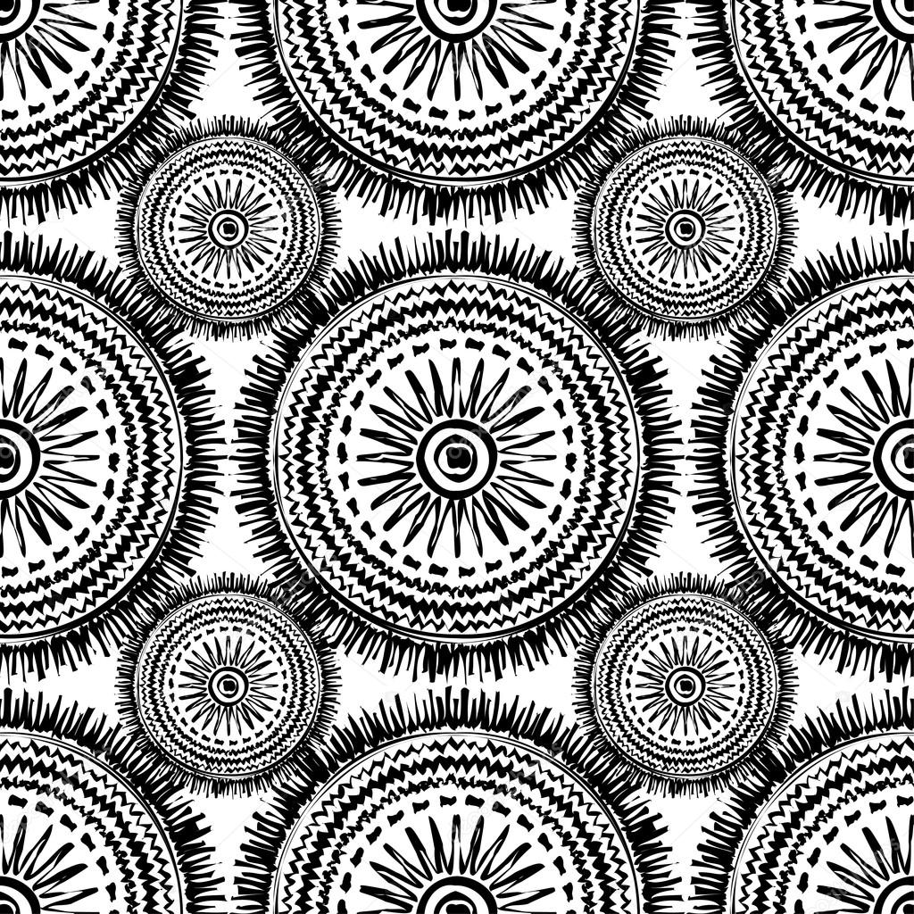 Ethnic Boho Seamless Pattern Print Repeating Background Cloth Design Wallpaper Vector By Lazin