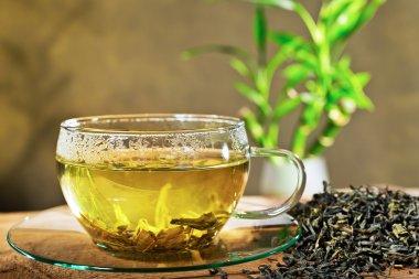 tea cup and loose tea