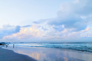 Main beach in Byron Bay after sunset