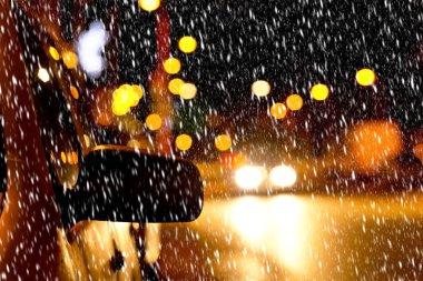 night street in the winter