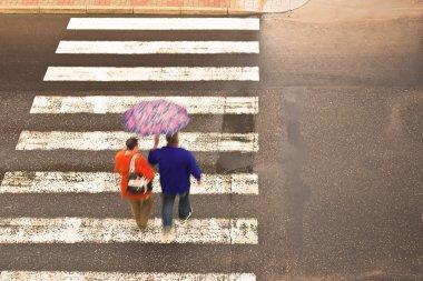 couple on the crosswalk