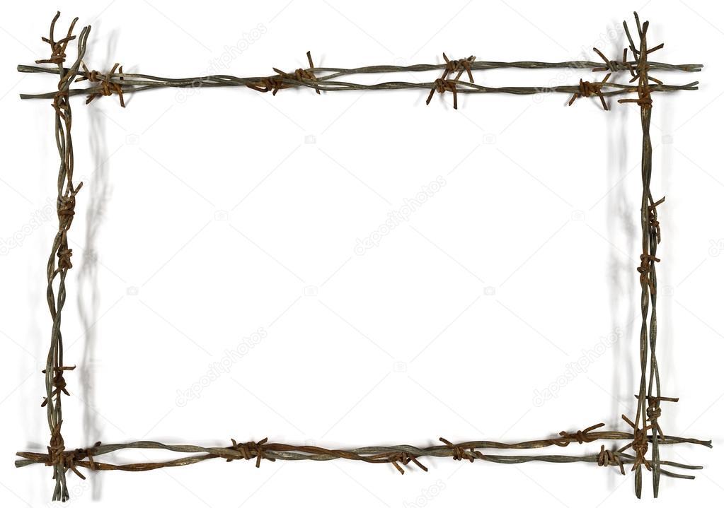 marco de alambre de púas — Foto de stock © aaron007 #90871210
