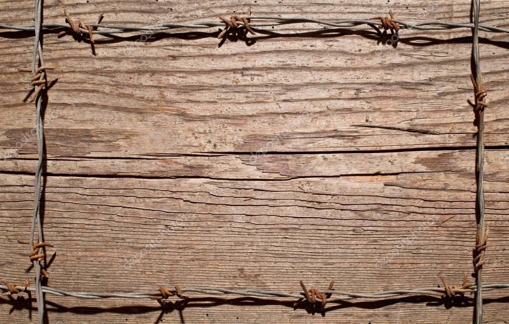 marco de alambre de púas — Fotos de Stock © aaron007 #90871316