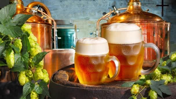 piva a chmele v pivovaru