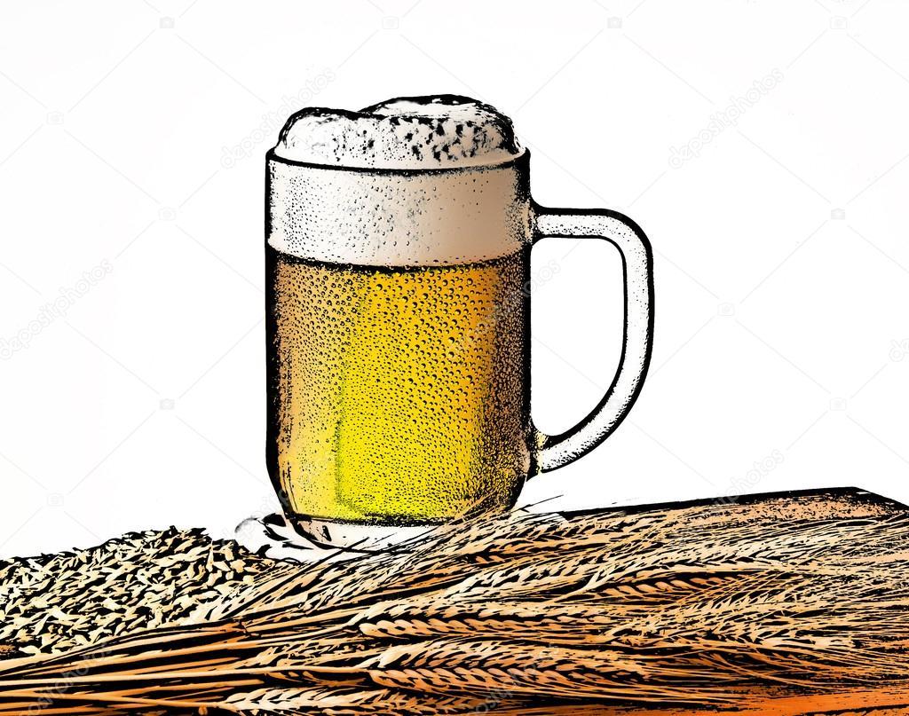8a328092e41 Ilustrační pivo skla s kroupami — Stock Fotografie © aaron007  97200104