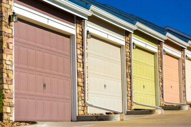 Colorful garage doors