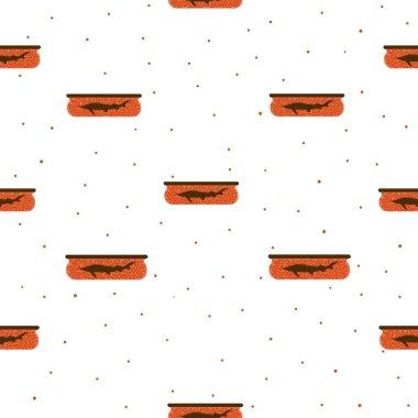 Fish caviar. Seamless vector pattern. icon