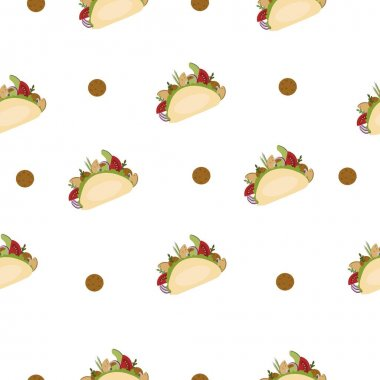 Fast food and falafel. Seamless vector pattern. icon