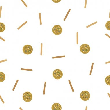 Falafel and bread steak. Seamless vector pattern. icon