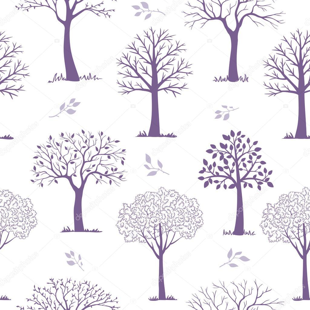árboles de patrones sin fisuras — Vector de stock © Lianka #100103796