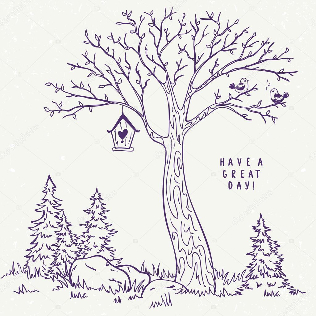 Baum Skizze