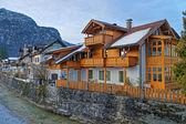 Fotografie Typische Holzhaus in Garmisch-Partenkirchen