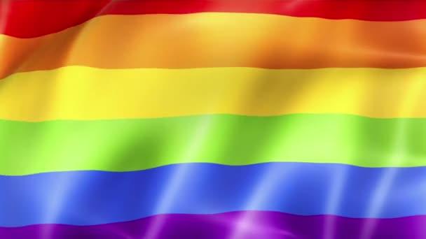 mává barevné gay hrdosti duhové vlajky, občanské právo označit bezešvé smyčka