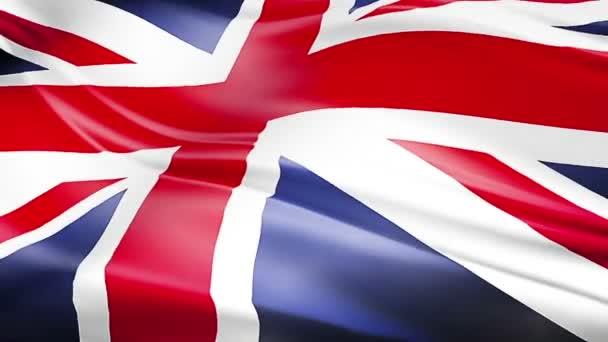 closeup of waving flag of Union Jack, uk england,  united kingdom flag