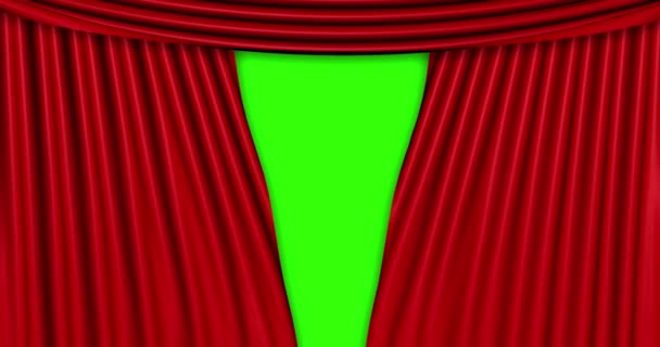 high quality animation perfectly red curtain opening movement background