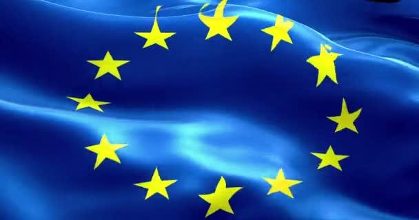 Vlajka EU, eura vlajky, vlajka Evropské unie mává