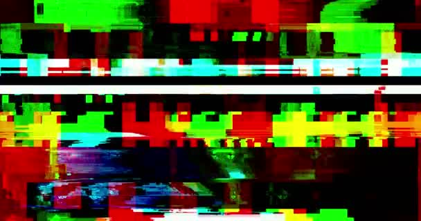 elvont multi color realista képernyő hiba villogó, analóg vintage TV jel rossz interferencia és színes sávok, statikus