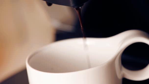 Coffee machine making cappuccino espresso coffee