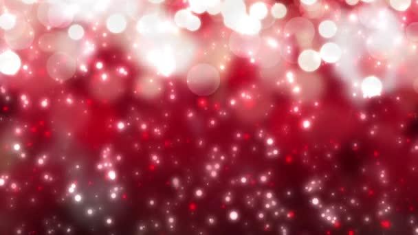 Digitális varrat nélküli hurok karácsonyi piros háttér fehér bokeh hó alá ünnep karácsony