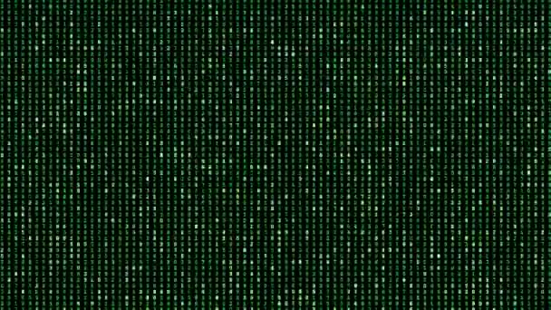 digital perfectly seamless loop of green matrix numbers background, animation