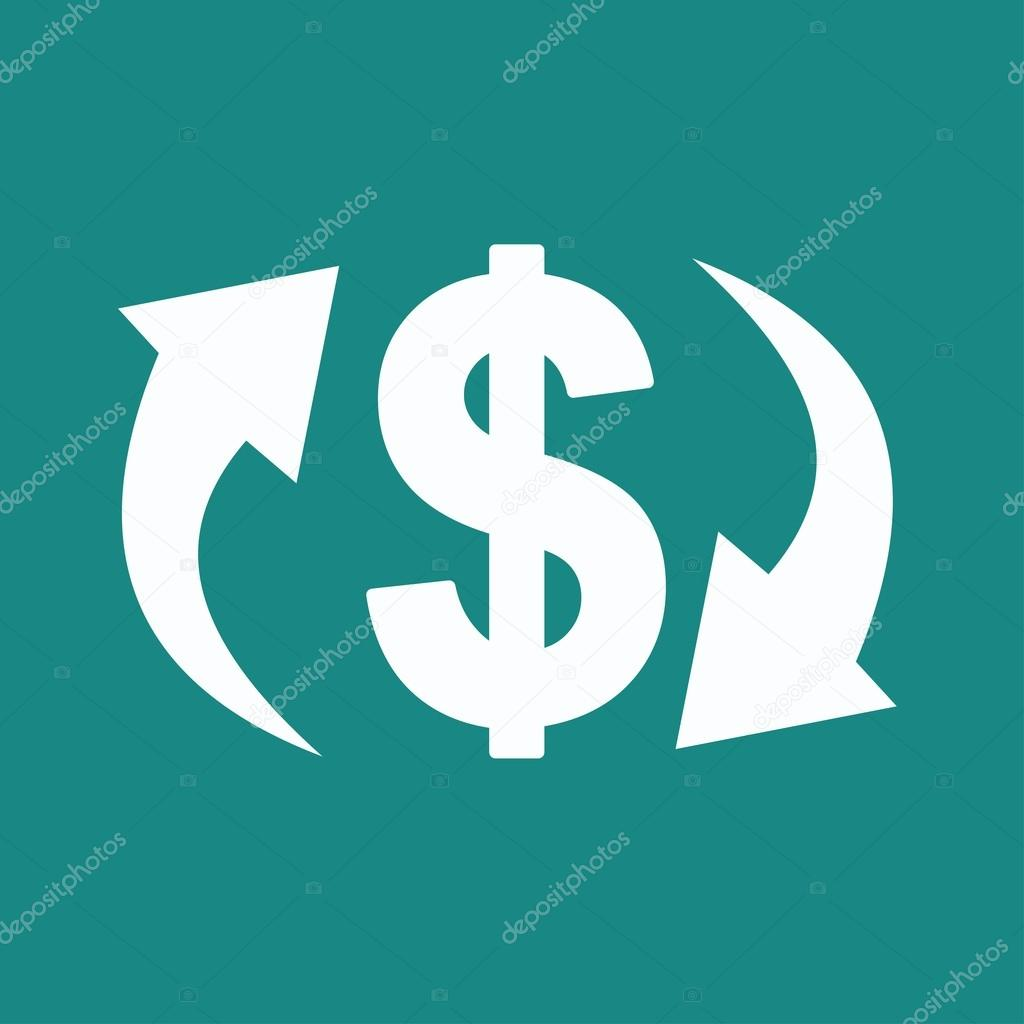 currency converter, exchange Icon — Stock Vector