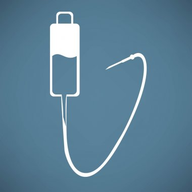 Intravenous therapy system icon.