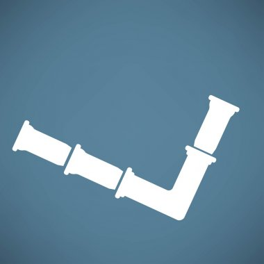 Pipes, sewage icon