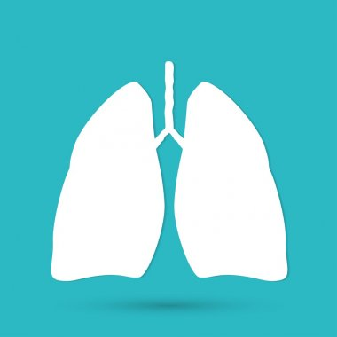 Human lungs icon