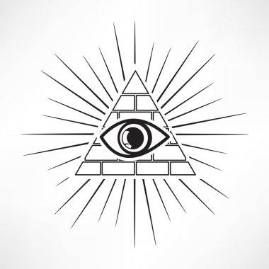 Pyramid Eye, masonic icon
