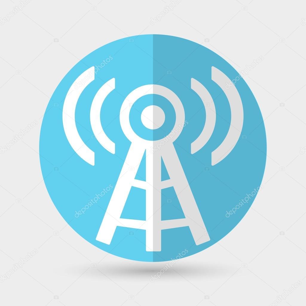 Drahtlose Turm, Wifi Icon — Stockvektor © slasny1988 #72955901