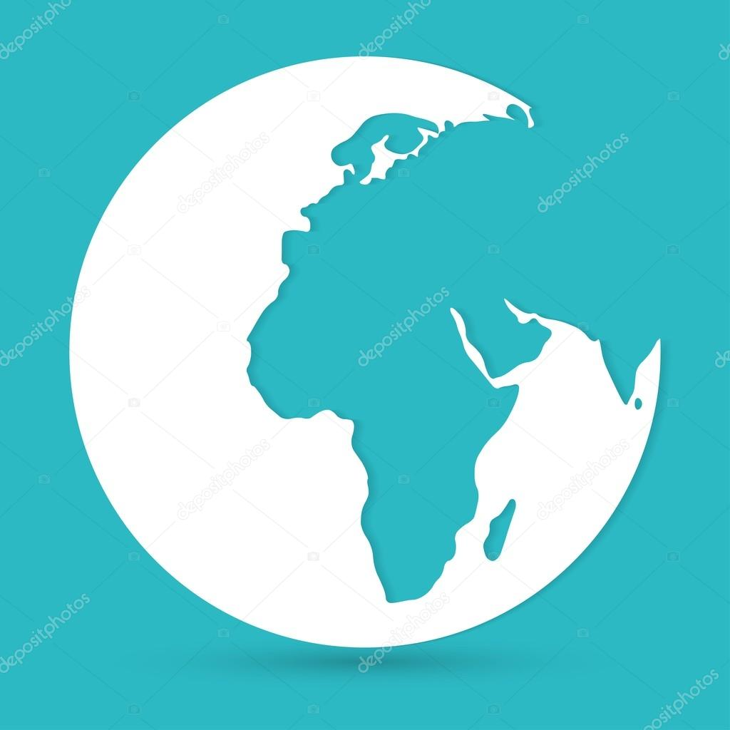 World map globe icon stock vector slasny1988 72958045 world map globe icon stock vector gumiabroncs Gallery