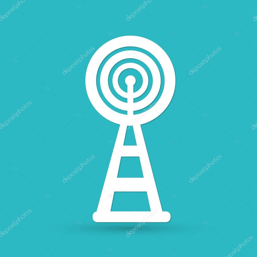 WLAN, Wifi Turm Symbol — Stockvektor © slasny1988 #72959031