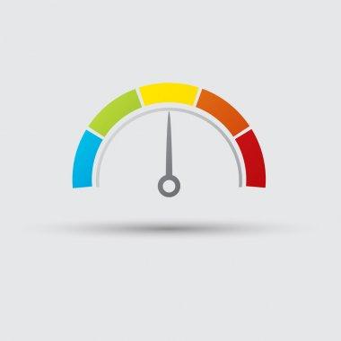Speedometer color icon