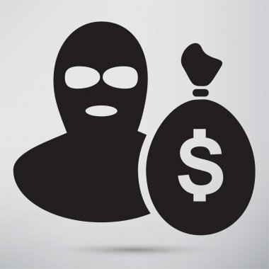 Offender, burglar, criminal icon