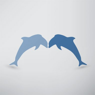Dolphins, fish icon