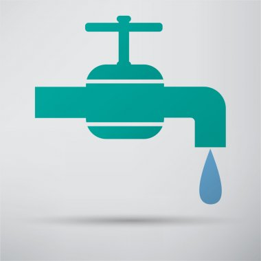 Tap, water, drop icon