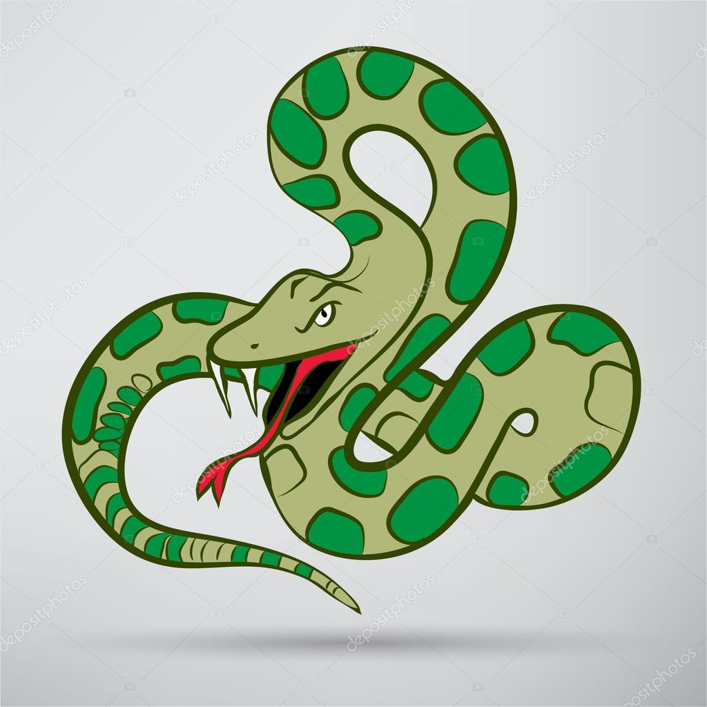 Cartoon Snake, animal icon