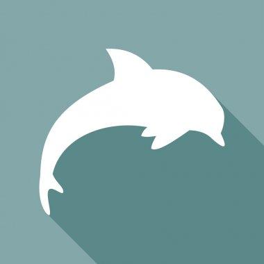 Icon of dolphin, sea animal