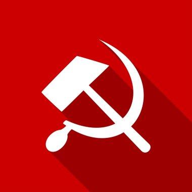 Sickle, hammer, communist icon