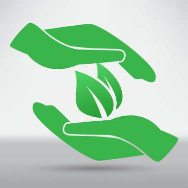 Hands and plant icon
