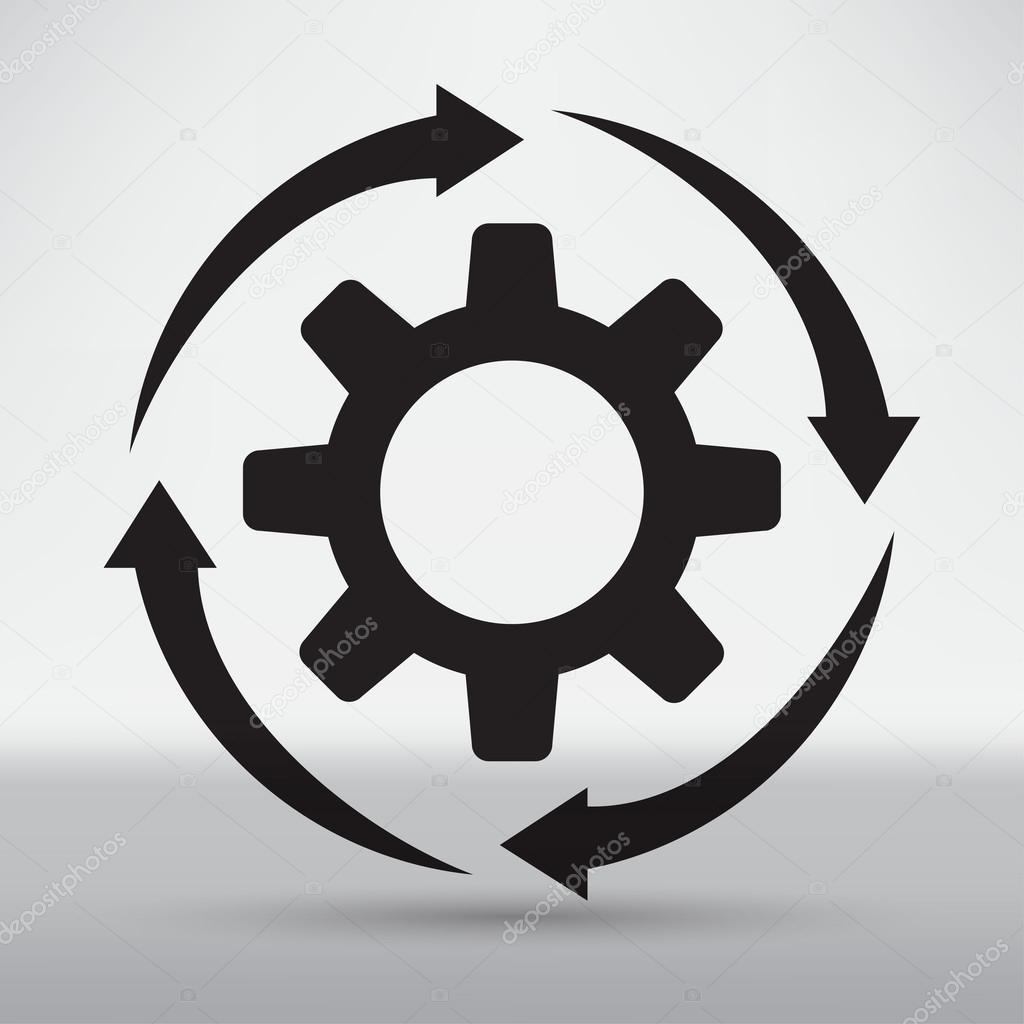 Technical Mechanical Symbol Stock Vector Slasny1988 76161587
