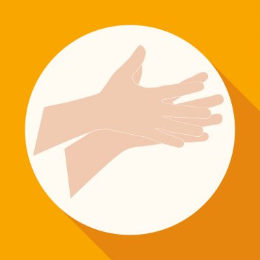 Caring hands, help icon