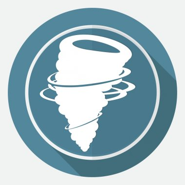 Icon wind on white circle