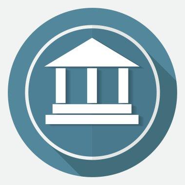 Pillar icon on white circle